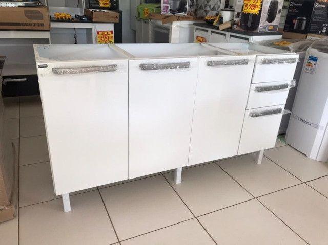 Gabinete de Cozinha Colormaq verona para Pia  de 1,60m em Aço - Foto 2