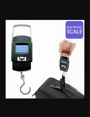Balança Portátil de Dedo Com Gancho Vertical - Pesa Até 50 Kg