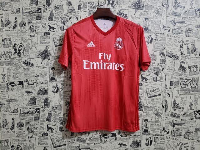 Camisa Real Third Vermelha