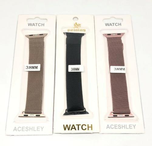 Pulseira Magnética Para Relógio Smartwatch Apple Watch ou W34 38mm Produto Novo - Foto 2