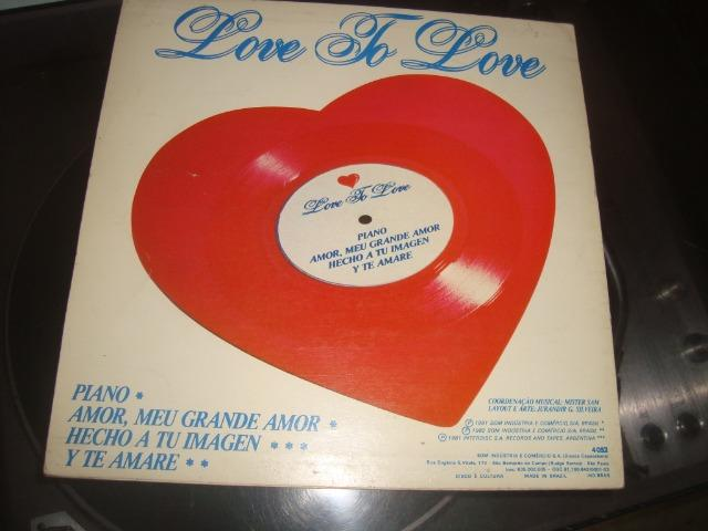 Disco Vinil formato coração, Love to Love, Magnetic Sounds, Gretchen.