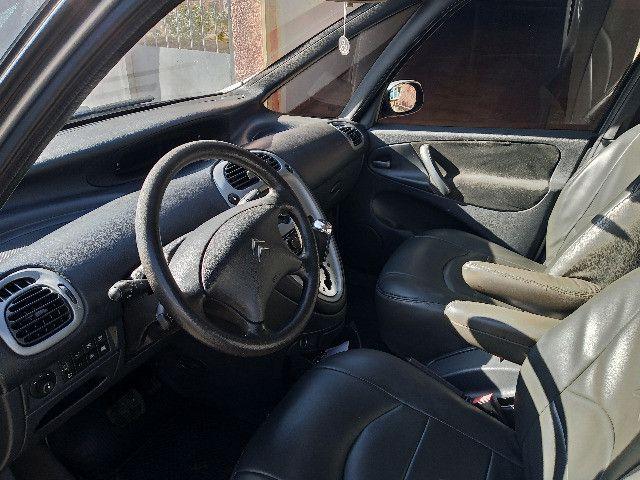 Picasso GLX 2.0 gasolina 2008/08 prata automatica couro completa - Foto 3