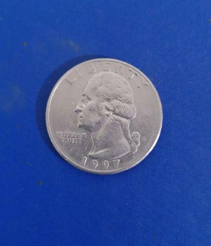 Moeda americana RARA quarter dollar 1997 Liberty George Washington