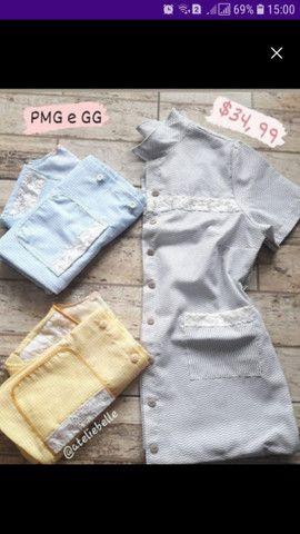 Camisola/Robe em tecido algodão  - Foto 2