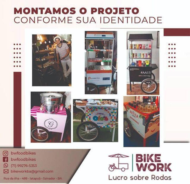 Fabricamos carrinhos gourmet food  bike projetos especiais - Foto 3