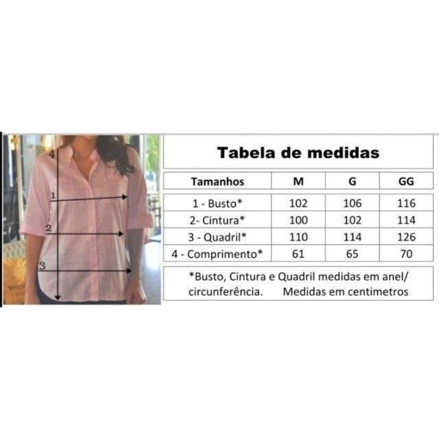 Camisa Feminina Blusa Social - Foto 4