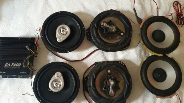 2 pares de auto falantes de 6 polegadas, 1 par de Subwofer 1 Módulo 250 Watts