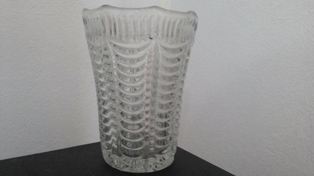 Vaso de cristal antigo anos 80 raridade