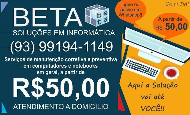 Manutenção de Computadores e Notebooks a partir de R$ 50,00