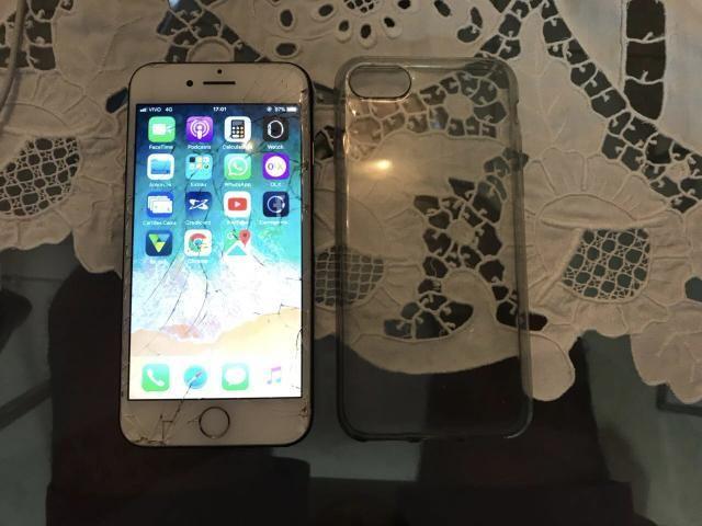 Vend ou Troc IPhone 7 32gb Rose tudo funcionando