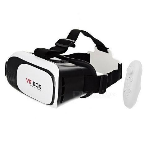 Óculos vr box 2.0 realidade virtual 3d android ios +controle - entrega grátis