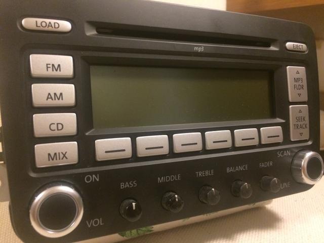 Radio Cd E Mp3 Player Original Vw Jetta 25 2007 A 2010 Pe�as Rhspolxbr: 2007 Jetta Radio Wont Turn On At Gmaili.net