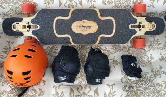 Longboard Completo Loaded Tan Tien + Capacete + Kit Proteção