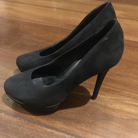 8979bc56e7 Sapato peep toe preto salto alto - Roupas e calçados - Centro ...