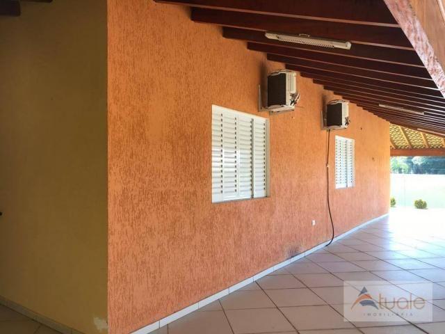 Chácara com 6 dormitórios para alugar, 1354 m² por r$ 5.000,00/mês - chácara recreio alvor - Foto 19