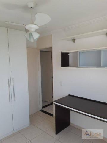 Apartamento com 2 dormitórios para alugar, 46 m² por r$ 1.050,00/mês - parque villa flores - Foto 12