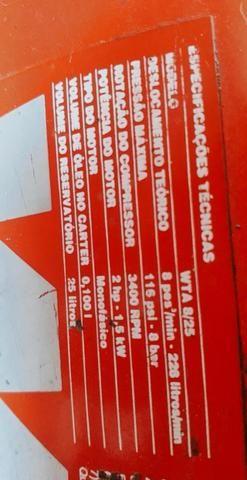 Compressor de ar Wayne Aluminium 8/25 2hp