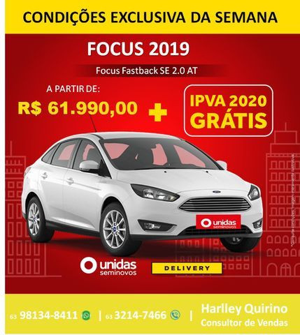 Ford Focus SE At 2.0 2019