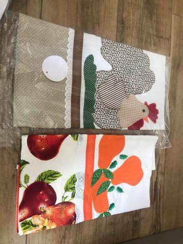Panos de prato patchwork/bordados. 12 unidades  - Foto 3