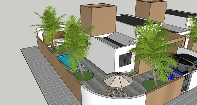 Casa solta de esquina, 3 qts, com piscina!
