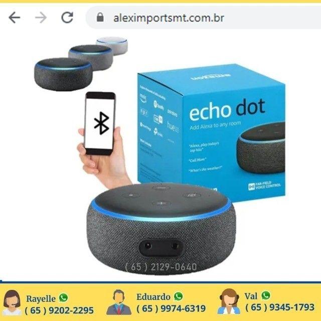 Caixa De Som Amazon Echo Dot 3ra Geracao Heather Gray Alexa