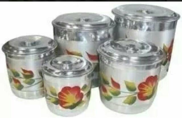 Jogo de latas de alumínio para mantimento