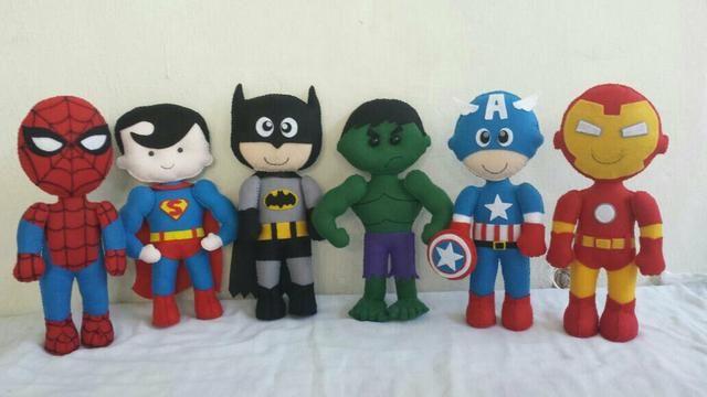 Turma dos super heróis em feltro