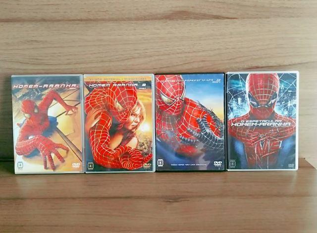 DVDs: trilogia:O homem aranha ,O espetácular homem aranha