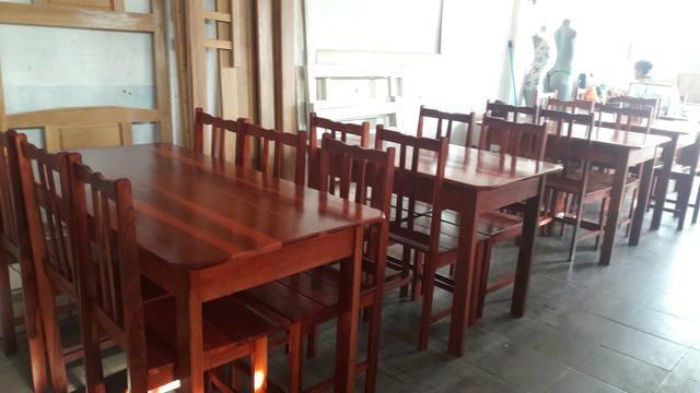 Mesa 4 cadeiras e 6 cadeiras nova