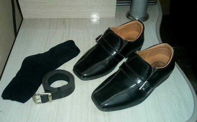 Sapato social usado uma só vez n° 25