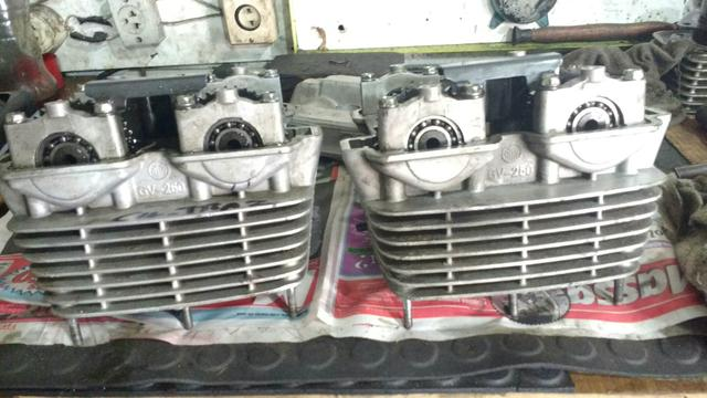 Par de Cabeçote GTR 250 2008 carburada