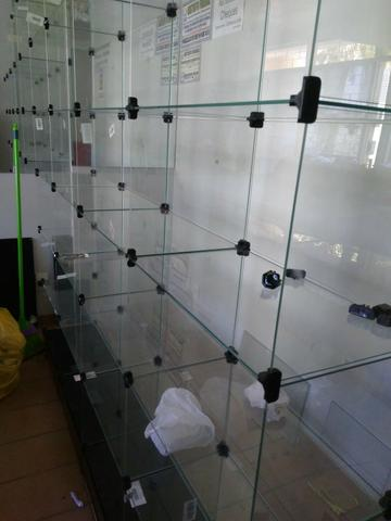 Prateleira em vidro modulado 2x2x.30