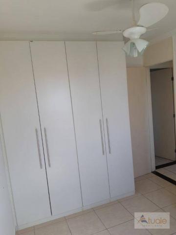 Apartamento com 2 dormitórios para alugar, 46 m² por r$ 1.050,00/mês - parque villa flores - Foto 11