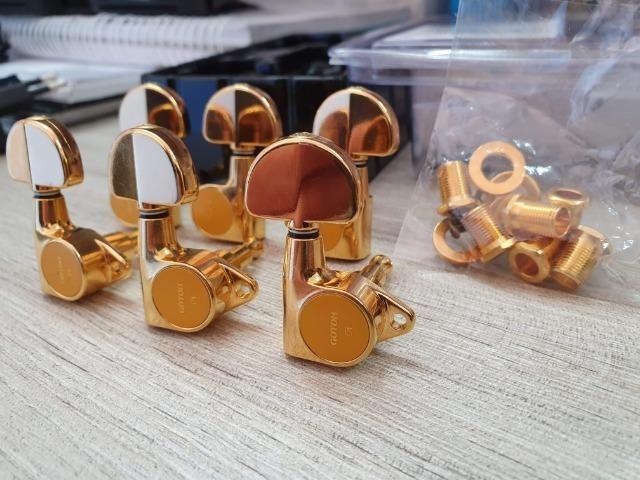 Tarrachas Gotoh Les Paul/Violão - Douradas - TOP!! - Foto 3