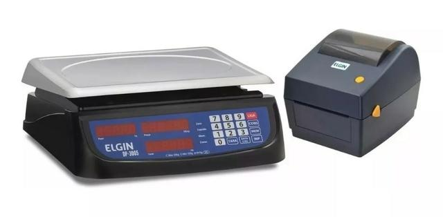 Kit Impressora Elgin 30kg Com Impressora De Etiquetas L42dt