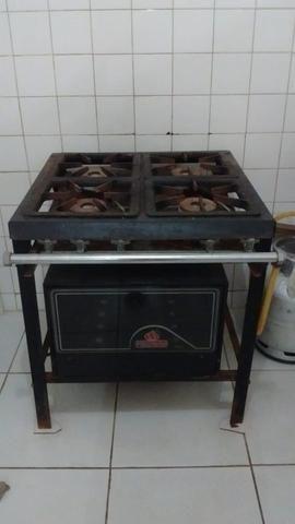 Fogão industrial + forno - Foto 2
