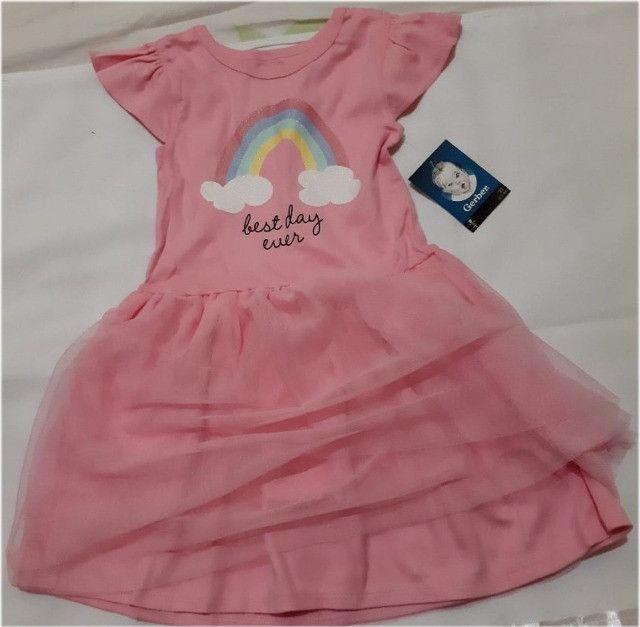 Vestido Gerber Arcoíris C/Tule 3 Anos Importado Promoção - Foto 4