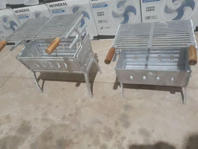 Churrasqueira alumínio batido  - Foto 4