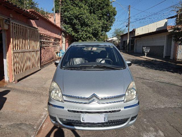 Picasso GLX 2.0 gasolina 2008/08 prata automatica couro completa - Foto 2