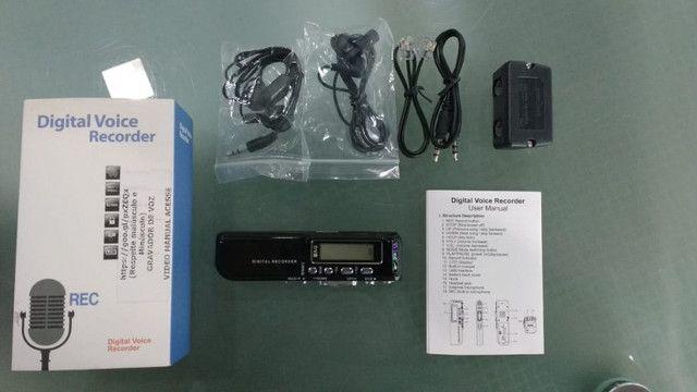 Mini gravador de voz digital DVR 8GB com MP3.