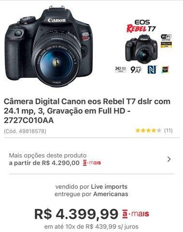 Câmera digital Profissional/ filmadora EOS 1200 - Foto 6