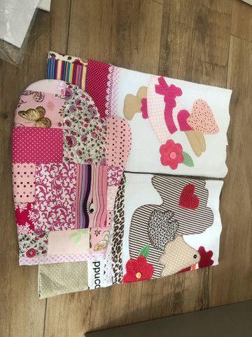 Panos de prato patchwork/bordados. 12 unidades  - Foto 4