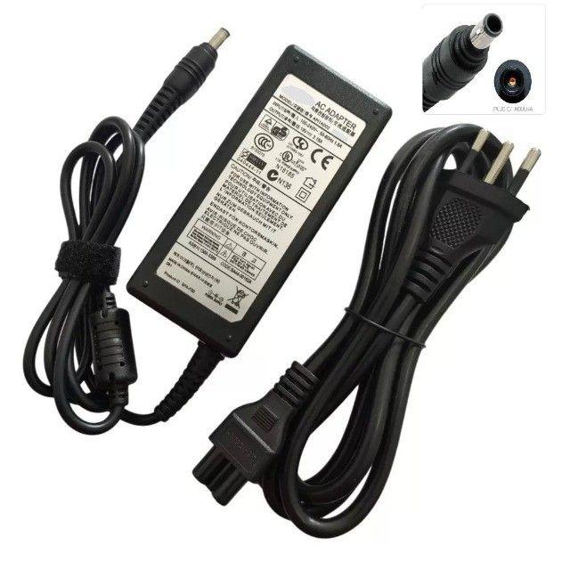 Fonte Carregador Notebook Samsung RV NP  19v 3.16a 65W  Novo