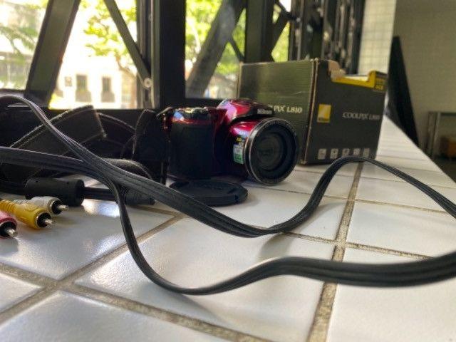 Câmera Nikon coolpix L810 seminova  - Foto 5