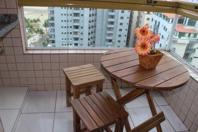 A008 - Apartamento frente mar com sacada gourmet - Foto 3
