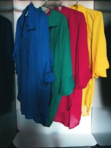 Camisa Feminina Blusa Social - Foto 2