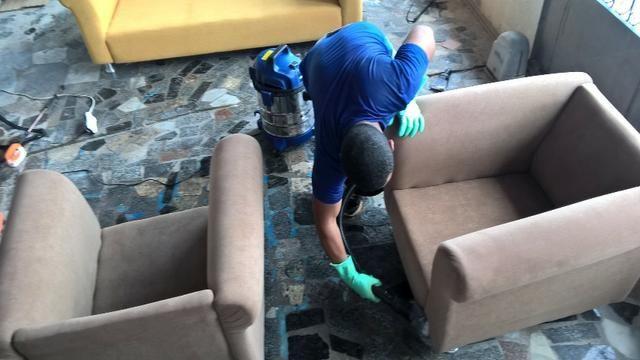 Limpamos sofás, garantimos qualidade