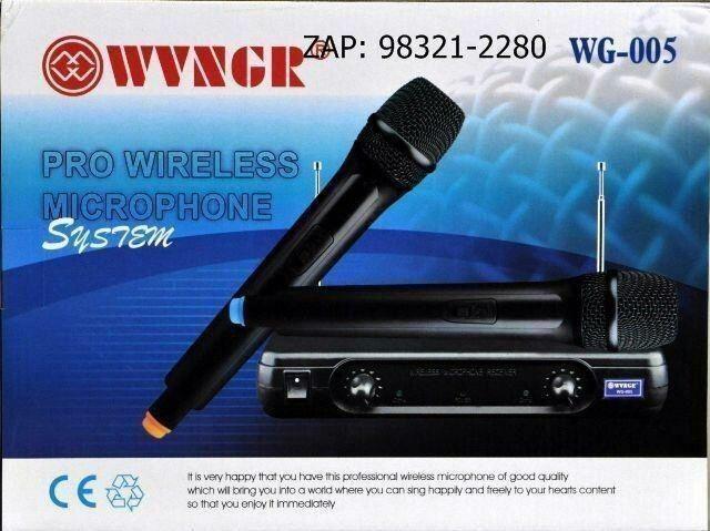 Microfone Duplo Sem Fio Profissional Vhf Wg-005 Igreja zap 998137183