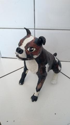 Escultura cachorro 30cm