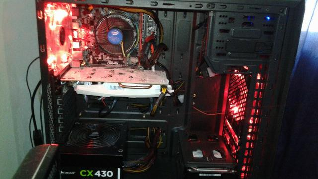 PC Gamer I5 7400 Placa de vídeo GTX 1050TI 4G Memória RAM 8GB DDr4 2400mhz HD 500GB